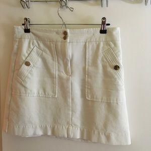 Loft white A-Line Skirt, size 8